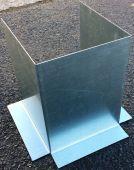 Pliage à façon acier galvanisé ép.1.2 mm avec encochages