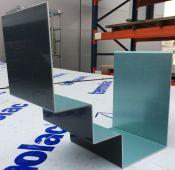 Couvre joint aluminium prélaqué RAL7016S chéneau en escalier