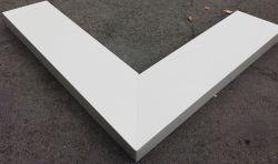 Angle de couvertine aluminium prélaqué RAL7044S ép.1.5 mm